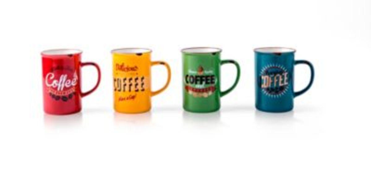 Bild 1 von Henkelbecher ''Kaffee'', 4er Set