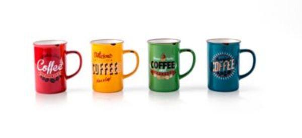 Henkelbecher ''Kaffee'', 4er Set