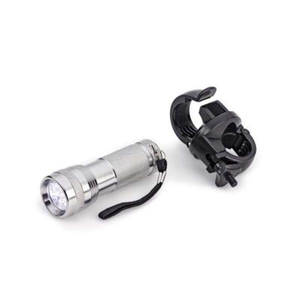 Aluminium Taschenlampe mit Halterung