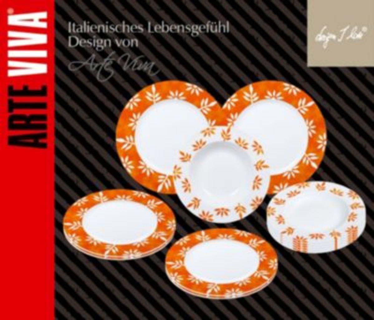 Bild 2 von Tafelservice Milena 12tlg. orange