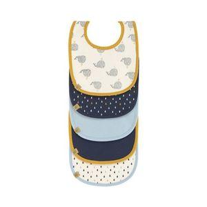 Lässig  4KIDS 5er-Pack wasserabweisende Lätzchen blau