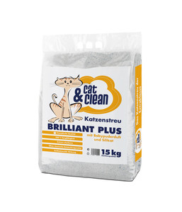 Cat & Clean Brilliant Plus mit Babypuderduft, Katzenstreu