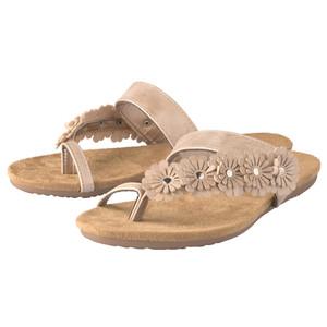 Damen Sandalen mit Blüten-Applikationen