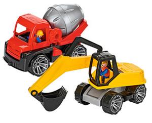 Sandkasten Baufahrzeuge