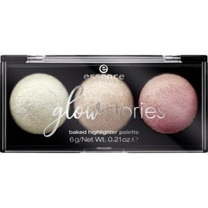 essence glow stories baked highlighter palette