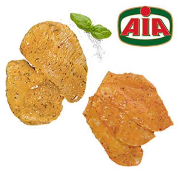 Frische Italienische Hähnchenbrustschnitzel oder Putenbruststeaks Teilstück, versch. mariniert, je 1 kg