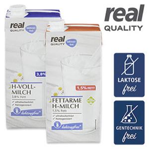 Haltbare Milch Laktosefrei 1,5/3,8 % Fett jede 1-Liter-Packung