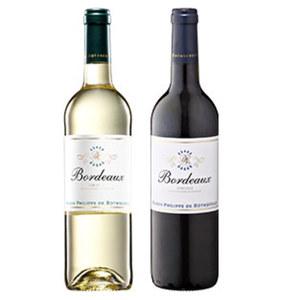 Frankreich Rothschild Bordeaux Rouge oder Blanc AOC, trocken, jede 0,75-l-Flasche