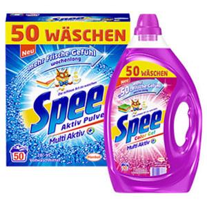 Spee Waschmittel 50/40 Waschladungen, versch. Sorten, jede Flasche/Packung