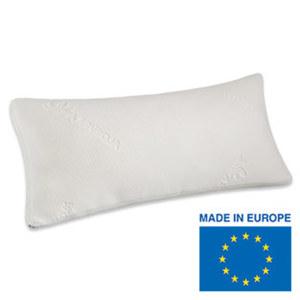 Viskoelastik Komfort-Schlafkissen mit Spezial-Klimaband für guten Luftaustausch innerhalb des Kissens, sorgt für die orthopädisch richtige Lagerung und Stützung des empfindlichen Nackenbereichs,