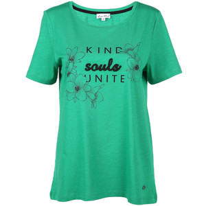 Damen Shirt mit Frontprint und Glitzersteinchen