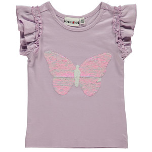 Mädchen Shirt mit Wendepailetten
