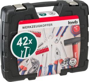 kwb Werkzeugkoffer 42-teilig Haushalt