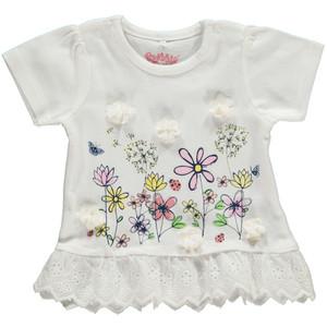 Baby Shirt mit Blumenprint und Volant