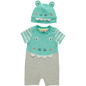 Baby Strampler Krokodil mit Mütze