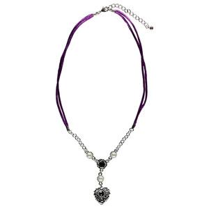 Damen Trachtenkette mit Ziersteinen und Perlen