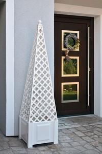 KHW Ranksäule Obelisk weiß