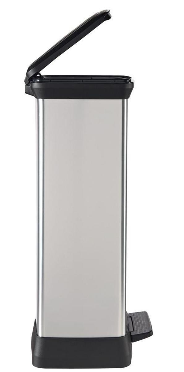 Bild 2 von Curver DECOBIN Abfalleimer 50L mit Fußpedal silber metallic
