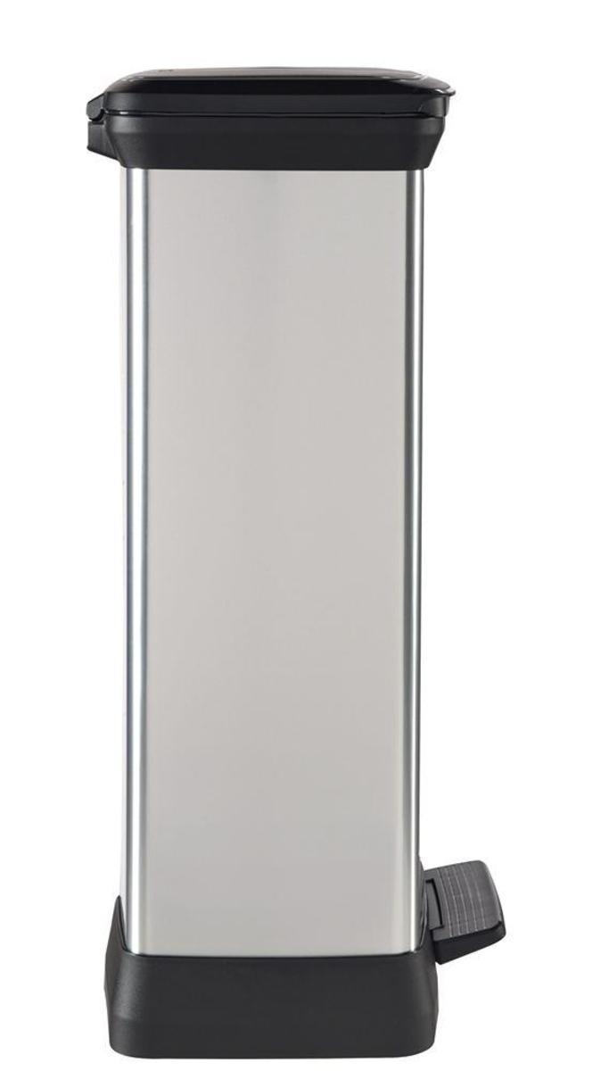 Bild 3 von Curver DECOBIN Abfalleimer 50L mit Fußpedal silber metallic