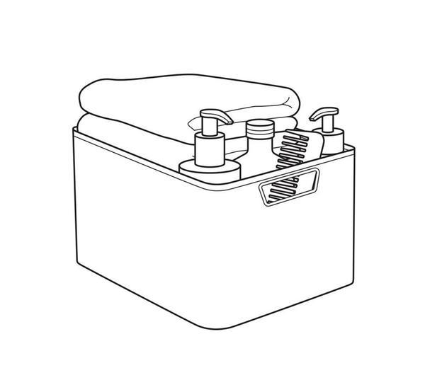 Curver 3 Er Set Style Box S Mit Deckel Creme