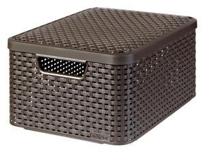 Curver 3-er Set STYLE Box M mit Deckel dunkelbraun