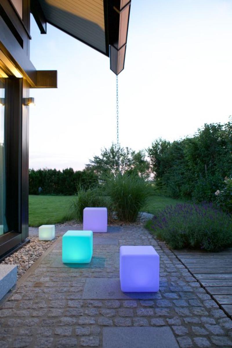 Bild 4 von Telefunken RGB-LED Solar-Gartenleuchte 30 cm Cube