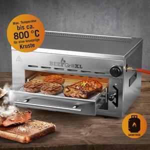 GOURMETmaxx Gas-Oberhitzegrill Beef Maker XL, 3.500 Watt, 4-tlg.