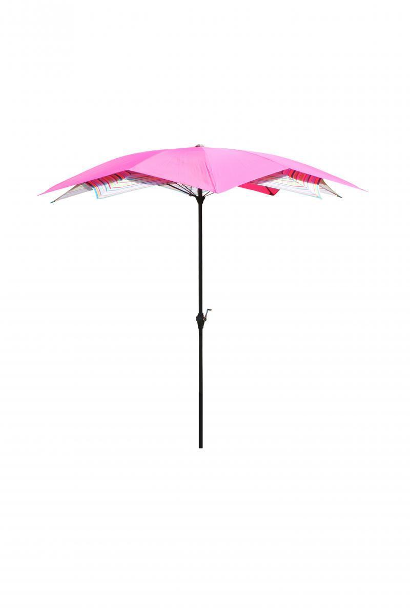 Bild 2 von LECO - Schirm-Blüte, Farbe: pink / gestreift