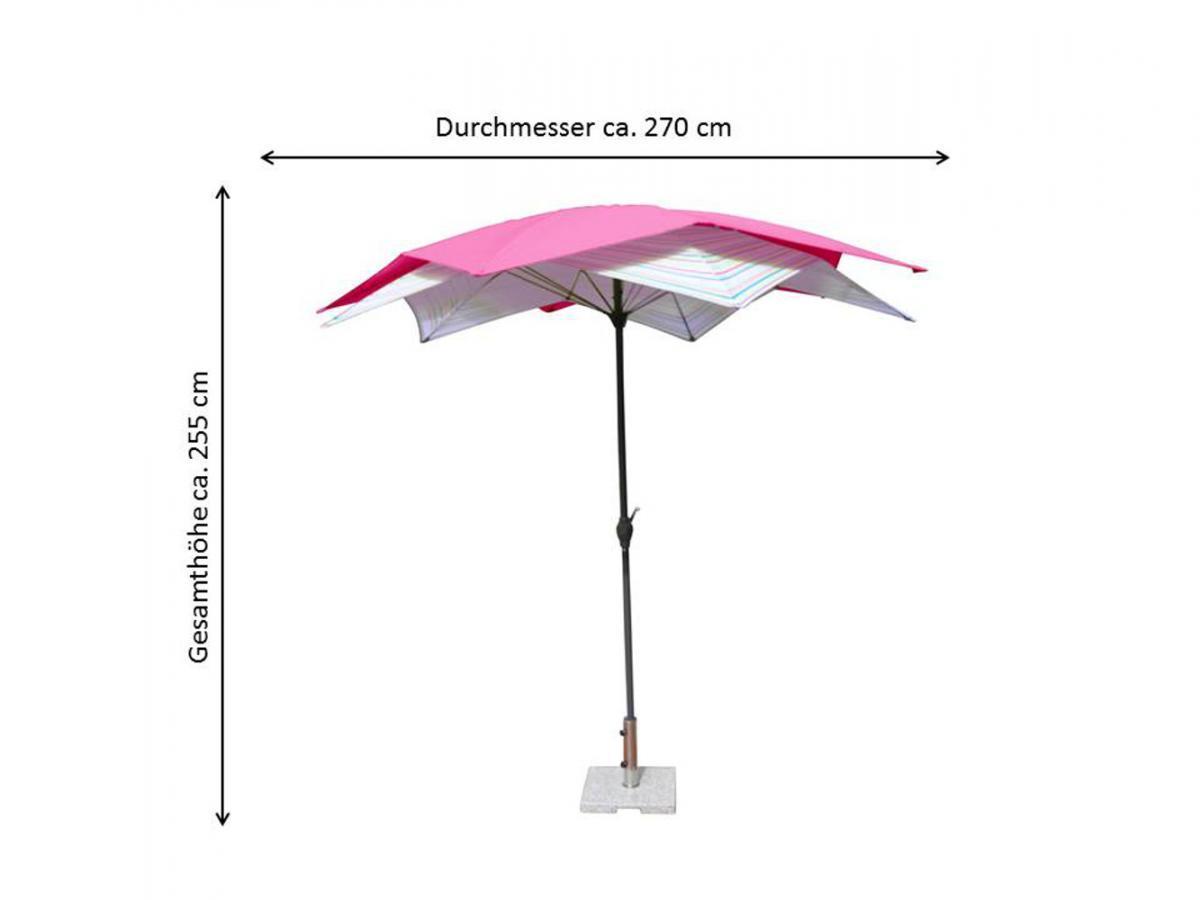 Bild 3 von LECO - Schirm-Blüte, Farbe: pink / gestreift