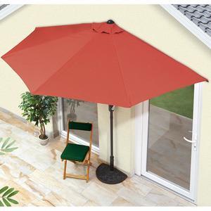 EASYmaxx Sonnenschirm halbrund 270x140cm terracotta UV-Schutz