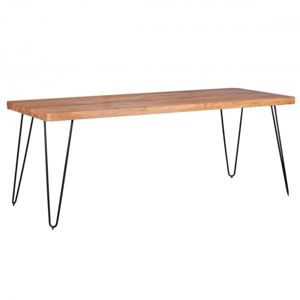 Wohnling Massivholz Akazie Esstisch 200 x 80 x 76 cm Küchentisch Massiv