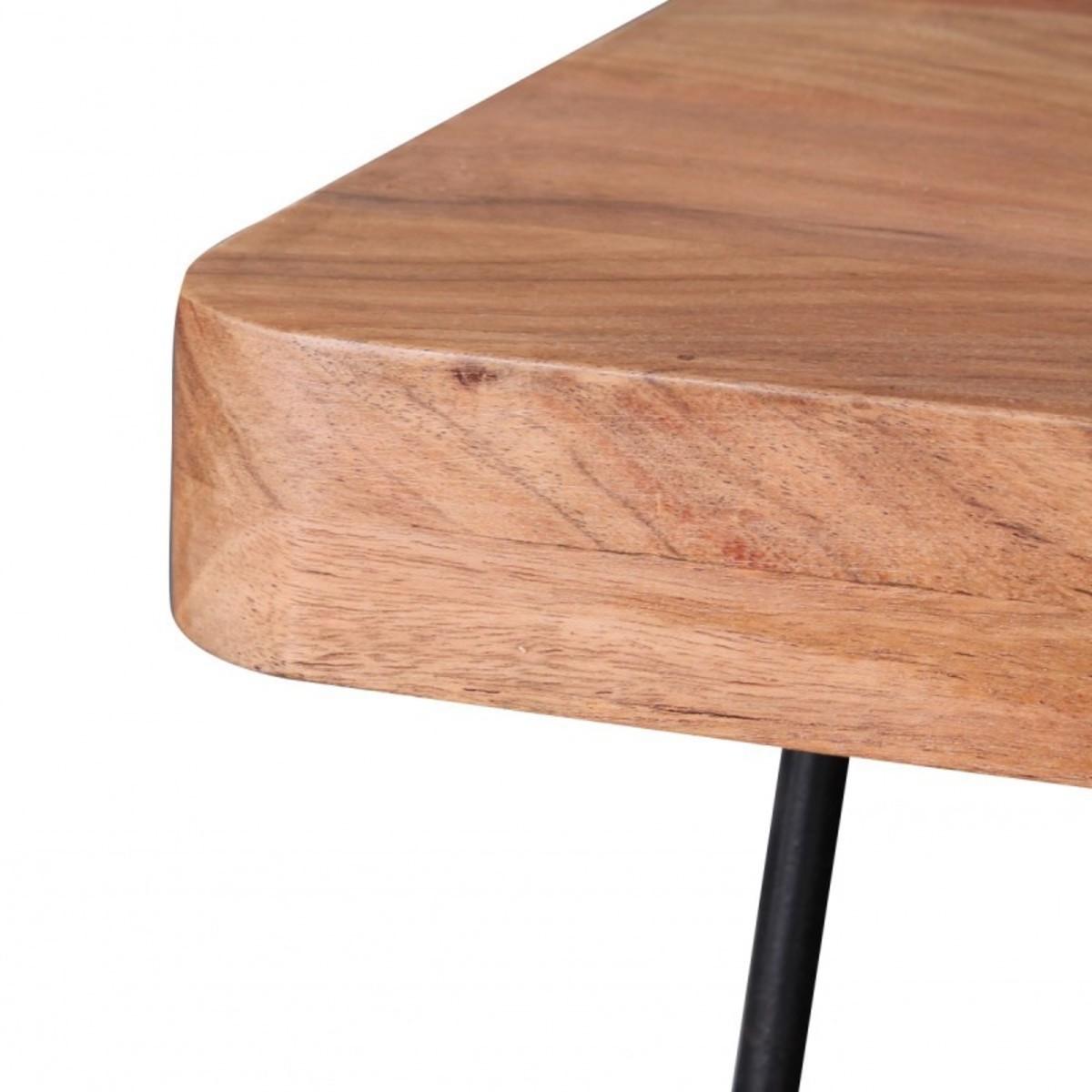 Bild 5 von Wohnling Massivholz Akazie Esstisch 200 x 80 x 76 cm Küchentisch Massiv