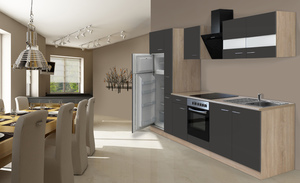 respekta Economy Küchenblock 310 cm, grau