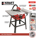Bild 2 von Kraft Werkzeuge Tischkreissäge TKS250 inkl. 2. Sägeblatt