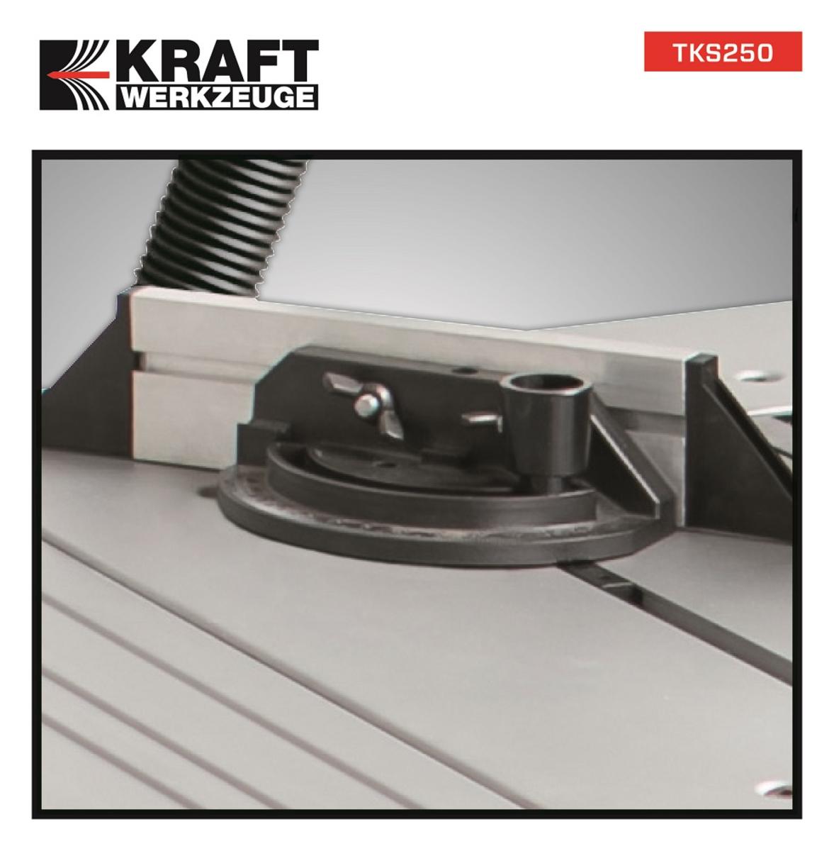 Bild 4 von Kraft Werkzeuge Tischkreissäge TKS250 inkl. 2. Sägeblatt