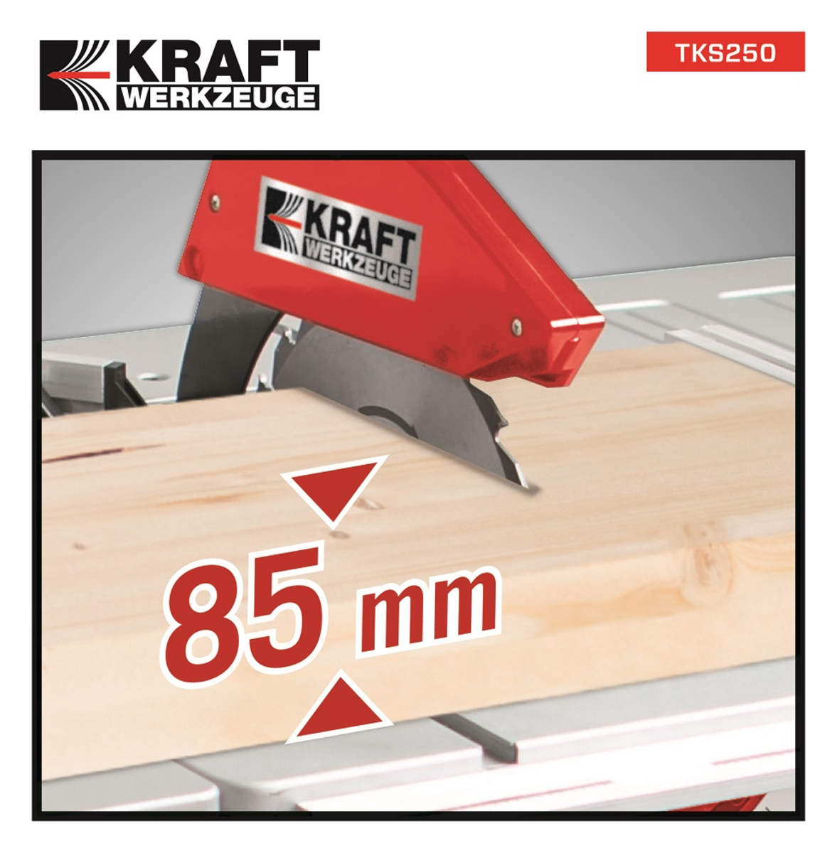 Bild 5 von Kraft Werkzeuge Tischkreissäge TKS250 inkl. 2. Sägeblatt
