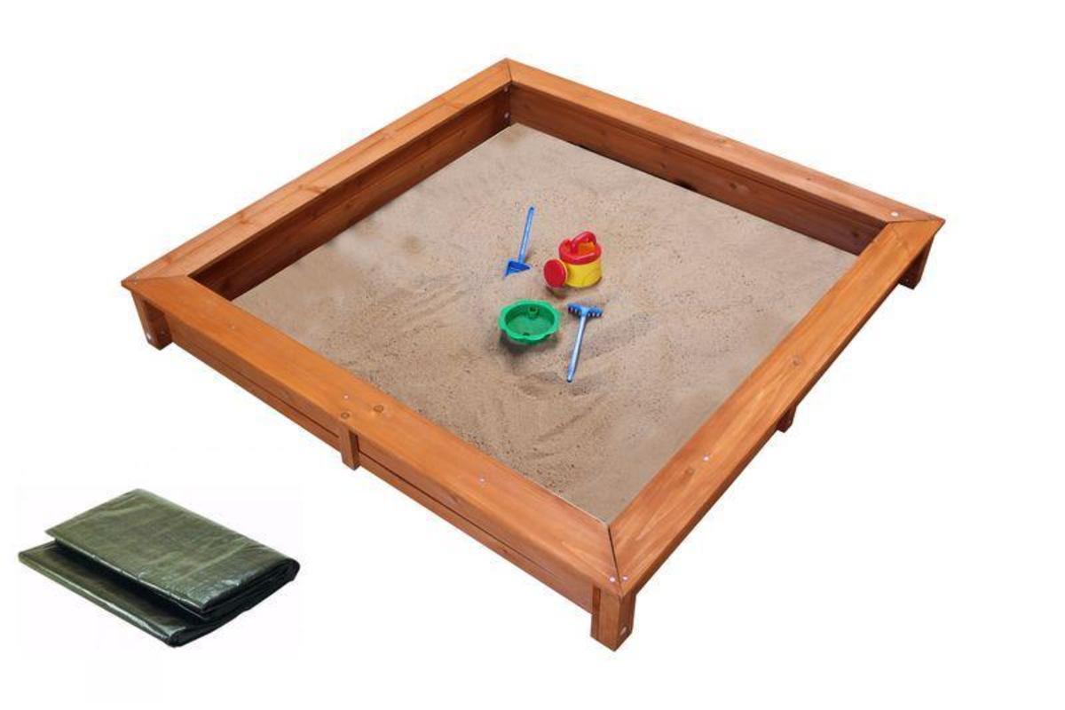 Bild 1 von Coemo Sandkasten 140 x 140 cm inkl. Abdeckplane