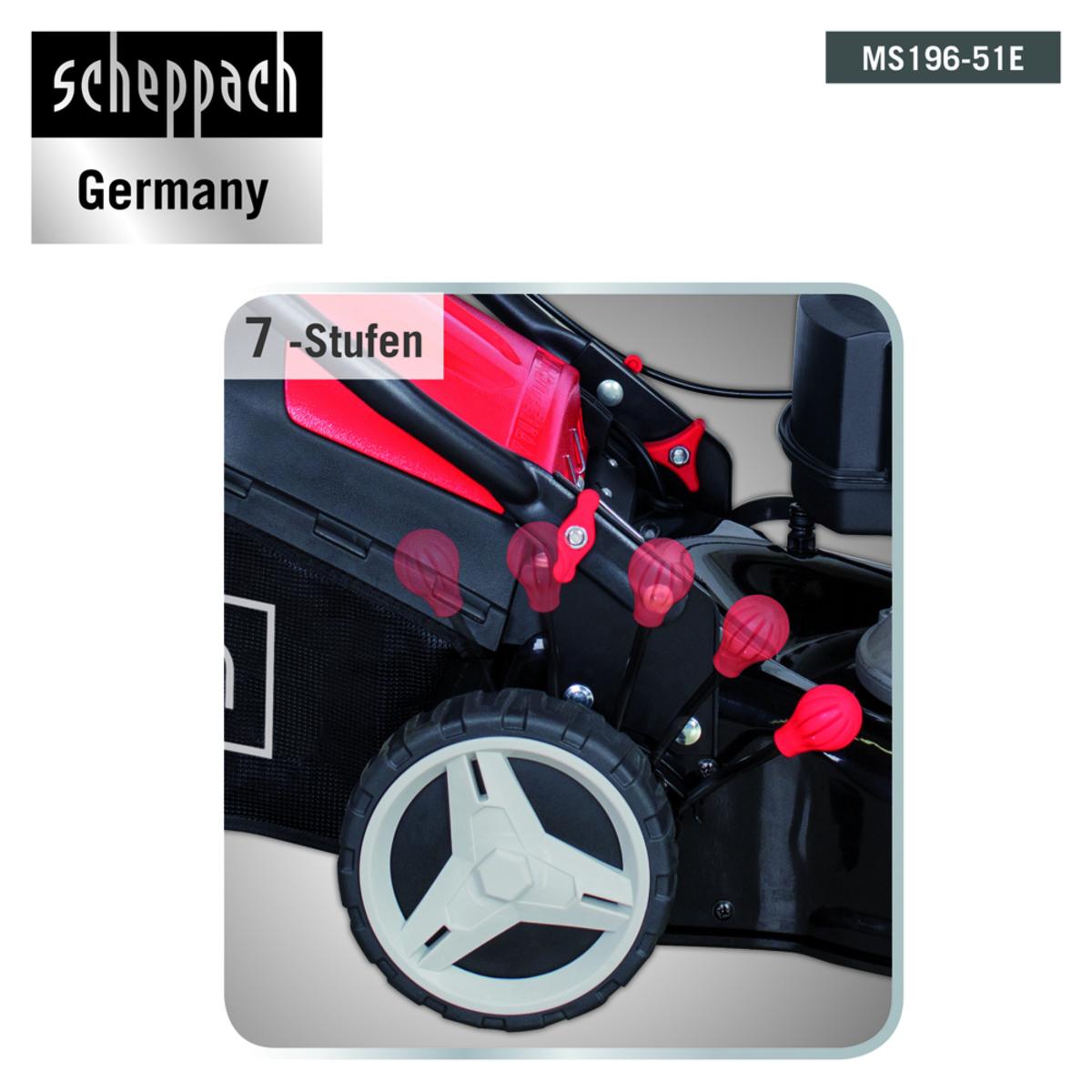 Bild 5 von Scheppach Benzinrasenmäher mit Radantrieb MS196-51E