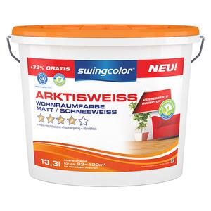 swingcolor Wandfarbe Arktisweiß