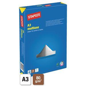 Staples A3 80g/m² Papier für Laser-, Tintenstrahl- und Kopiergeräte Weiß