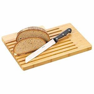 Esmeyer Brotschneidbrett BEN aus Bambusholz  mit Längsrillen, inkl. Brotmesser, Klinge aus Spezialstahl, 291-386