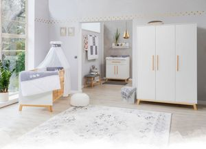 Schardt - 4er Spar-Set Kinderzimmer - Venice - Farbe: weiß/Buche