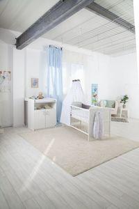 Schardt - 2er Spar-Set Kombi-Kinderbett und Wickelkommode - Classic/Sunny - Farbe weiß