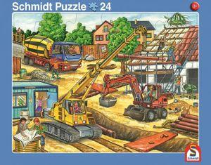 Rahmenpuzzle - Müllauto und Baustelle - 2er Set