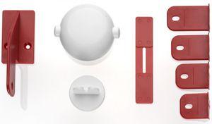 Schrankschloss für Doppeltüren - weiß
