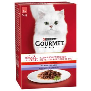 Gourmet Katzenfutter Mon Petit Fleisch 6x50g