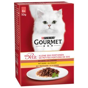 Gourmet Katzenfutter Mon Petit Geflügel 6x50g