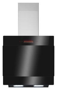 Amica Dunstabzugshaube, KHF 664 100 S, Kaminhaube, Schwarzes Glaspanel, 60cm, Energieklasse A+