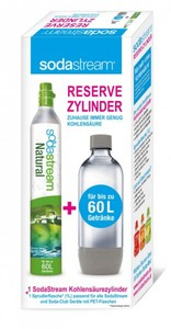 SodaStream Reserve-Zylinder 50-60 ltr + 1 Liter PET Flasche