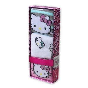 Kinder Socken, 3er Pack - Hello Kitty, Gr. 27-30